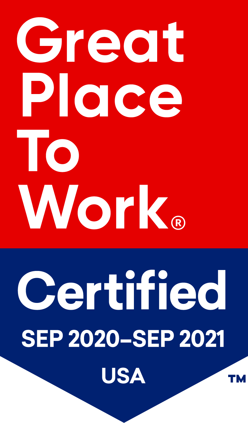 Great Places to Work Certified 2020