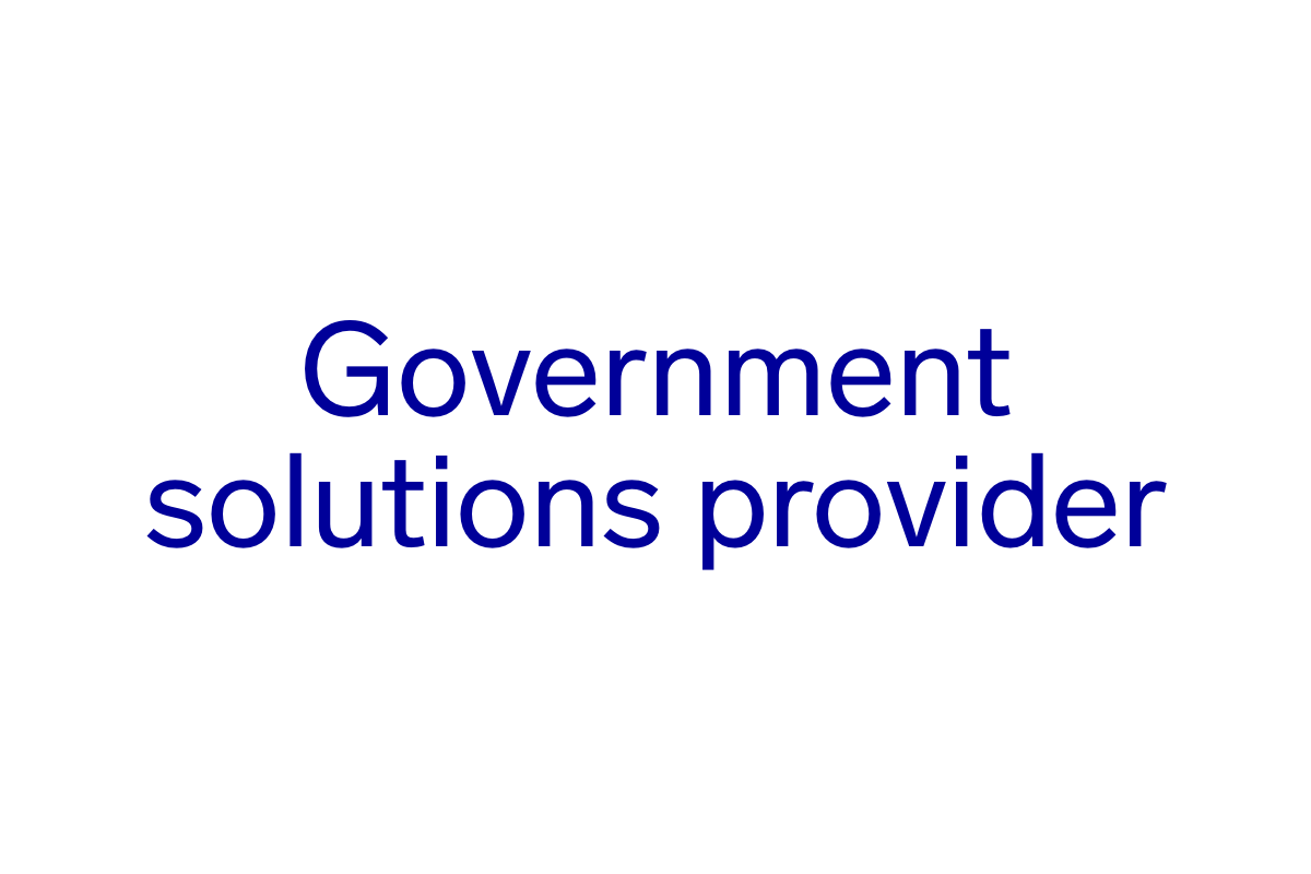 Government Solutions Provider